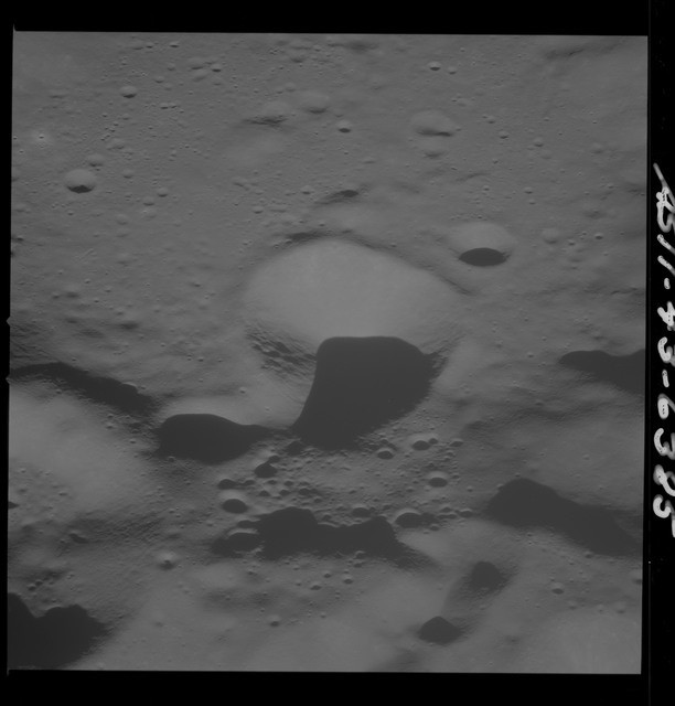 AS11-43-6385 - Apollo 11 - Apollo 11 Mission image - Moon, South of Crater 229