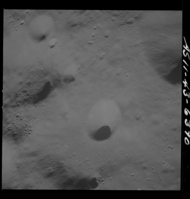 AS11-43-6390 - Apollo 11 - Apollo 11 Mission image - Moon, Southwest of Crater 229