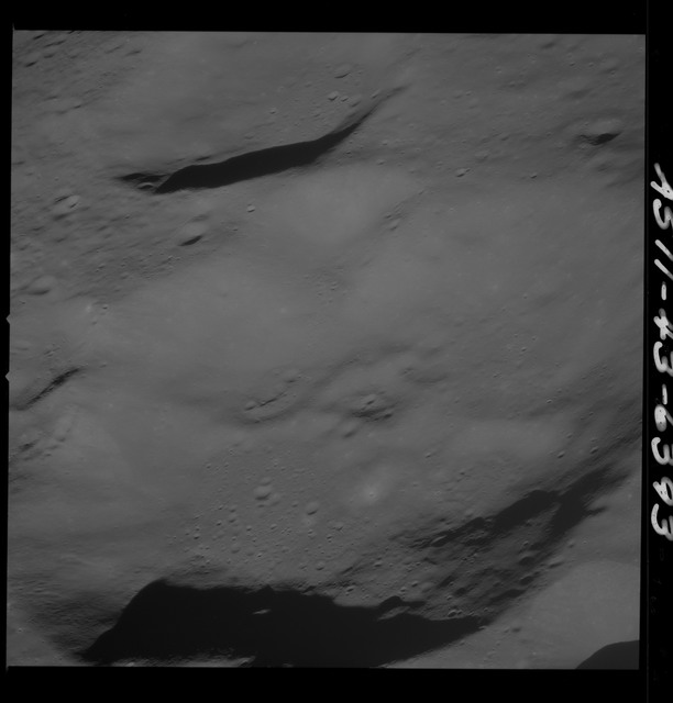 AS11-43-6393 - Apollo 11 - Apollo 11 Mission image - Moon, Southwest of Crater 229