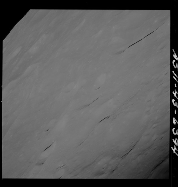 AS11-43-6394 - Apollo 11 - Apollo 11 Mission image - Moon, Crater 229 area