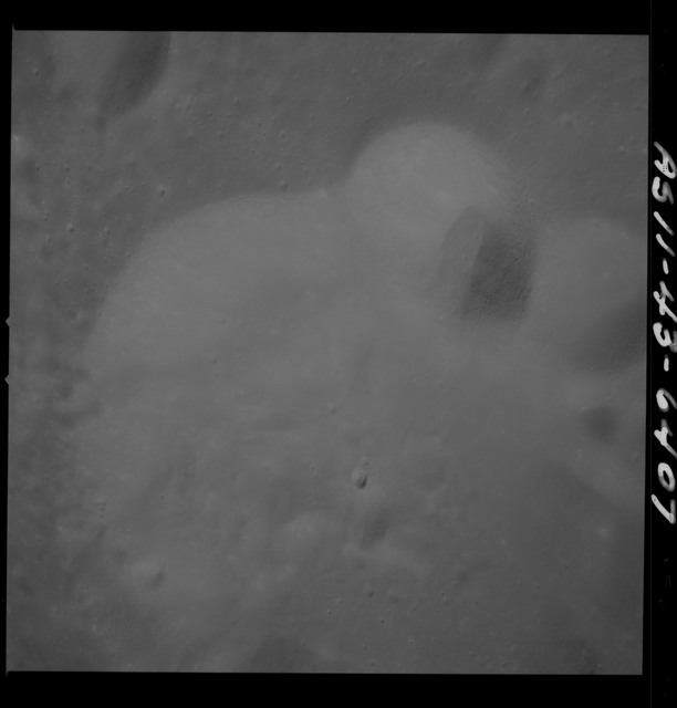 AS11-43-6407 - Apollo 11 - Apollo 11 Mission image - Moon, Between Craters 225 and 220