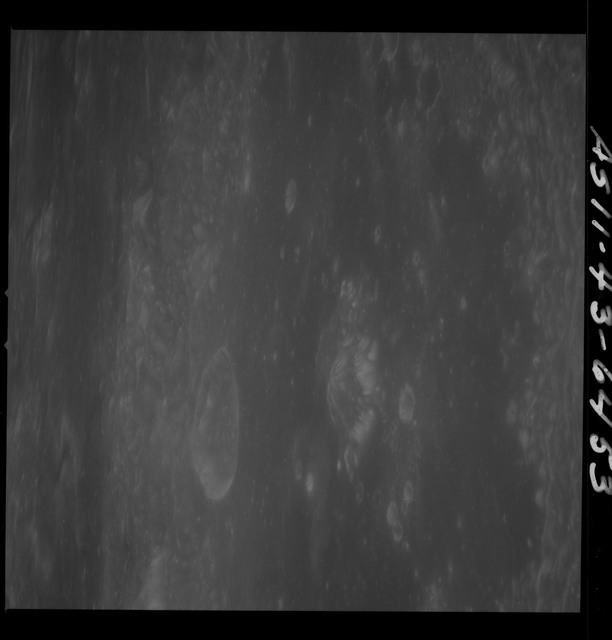 AS11-43-6453 - Apollo 11 - Apollo 11 Mission image - Moon, Crater Neper, Crater Neper G