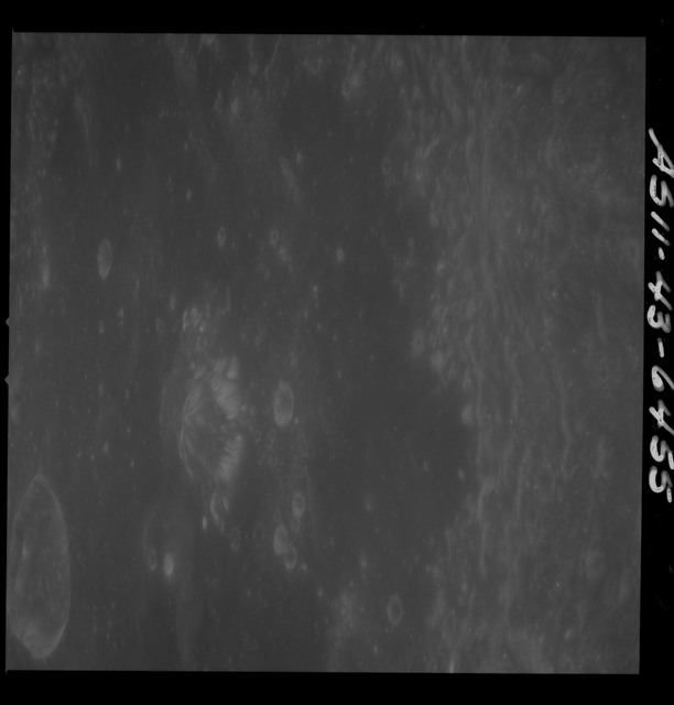 AS11-43-6455 - Apollo 11 - Apollo 11 Mission image - Moon, Crater Neper, Crater Neper G