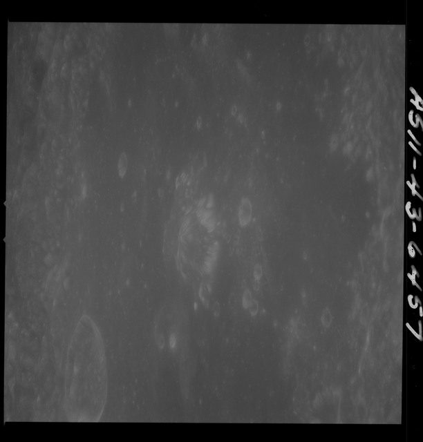 AS11-43-6457 - Apollo 11 - Apollo 11 Mission image - Moon, Crater Neper, Crater Neper G