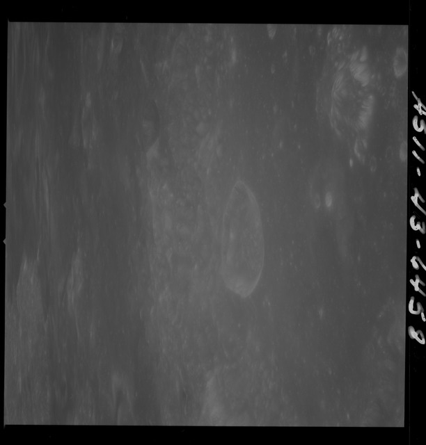 AS11-43-6458 - Apollo 11 - Apollo 11 Mission image - Moon, Crater Neper, Crater Neper G