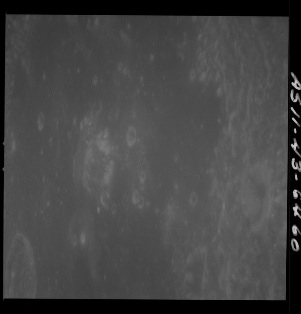 AS11-43-6460 - Apollo 11 - Apollo 11 Mission image - Moon, Crater Neper, Crater Neper G and Neper Q