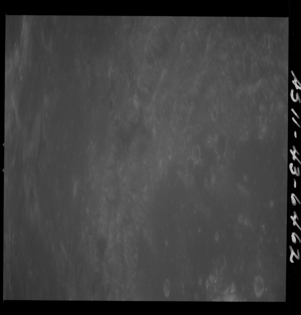 AS11-43-6462 - Apollo 11 - Apollo 11 Mission image - Moon, Crater Neper, partial TO 16