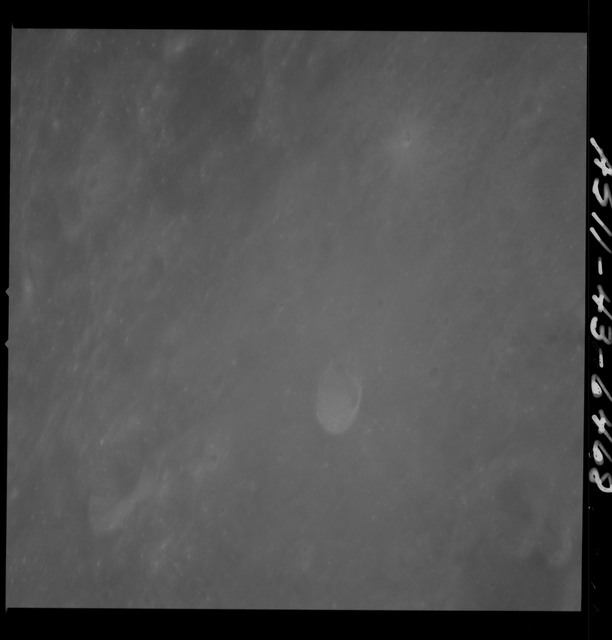 AS11-43-6468 - Apollo 11 - Apollo 11 Mission image - Moon, just east of Crater Banachiewicz