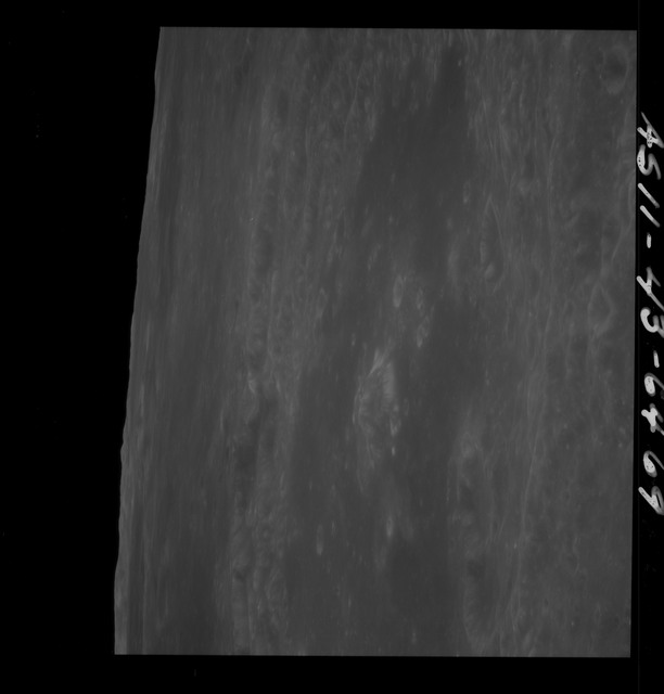 AS11-43-6469 - Apollo 11 - Apollo 11 Mission image - Moon, Craters Neper, Neper Q, Partial TO 16