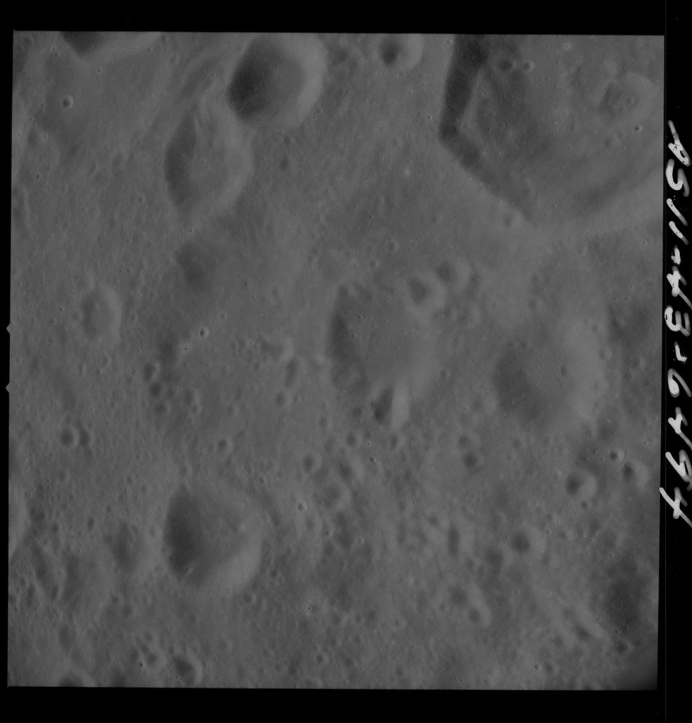 AS11-43-6494 - Apollo 11 - Apollo 11 Mission image - Moon, West of Crater 303