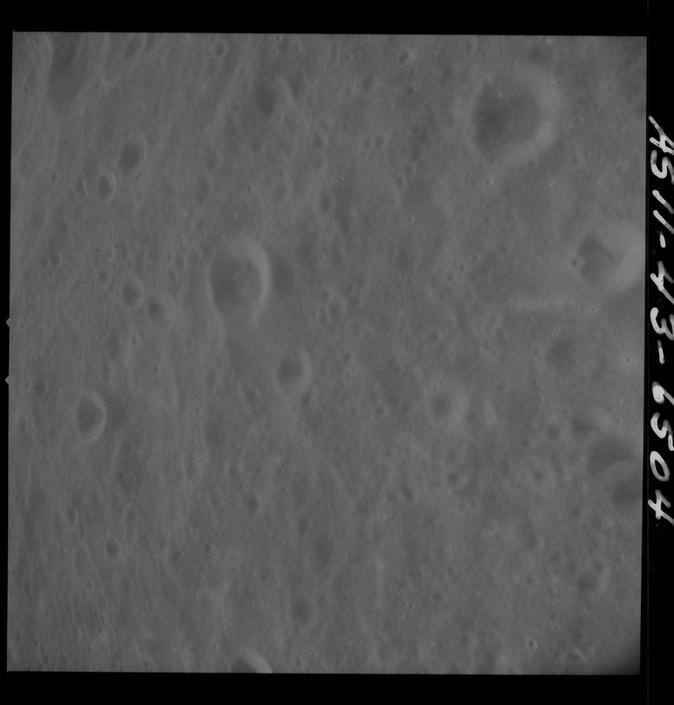 AS11-43-6504 - Apollo 11 - Apollo 11 Mission image - Moon, South of Crater 218