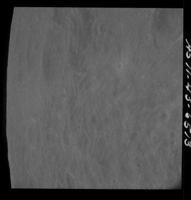 AS11-43-6513 - Apollo 11 - Apollo 11 Mission image - Moon, Craters 217, 216, near TO 33