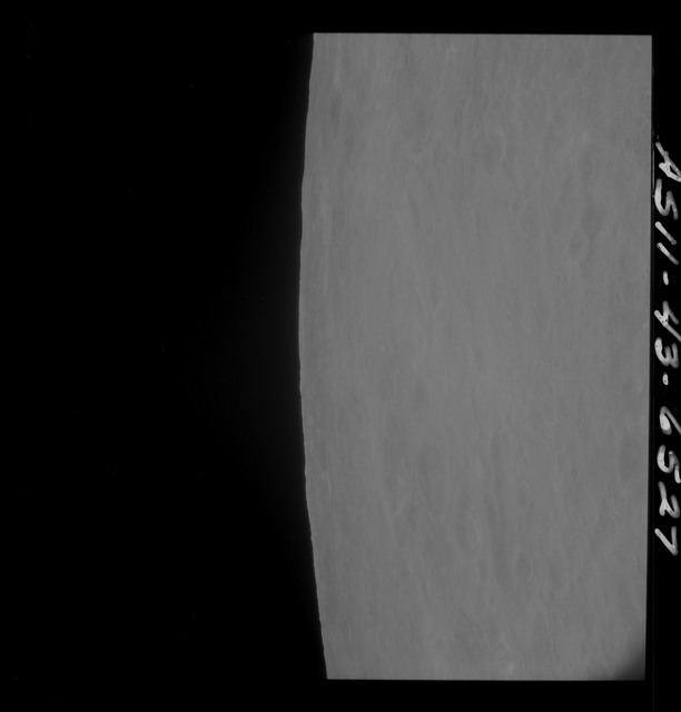 AS11-43-6527 - Apollo 11 - Apollo 11 Mission image - Moon, Partial view of Crater 211