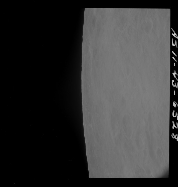AS11-43-6528 - Apollo 11 - Apollo 11 Mission image - Moon, Partial view of Crater 211