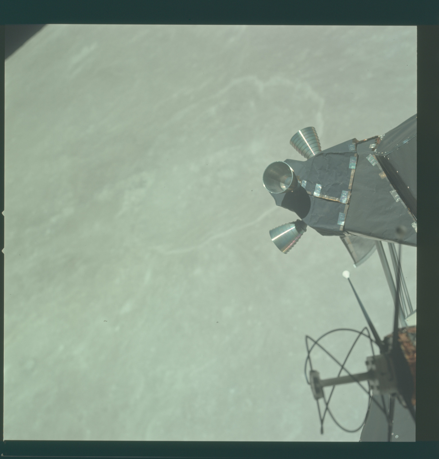 AS11-44-6541 - Apollo 11 - Apollo 11 Mission image - View of Moon limb near Crater 221, TO 46