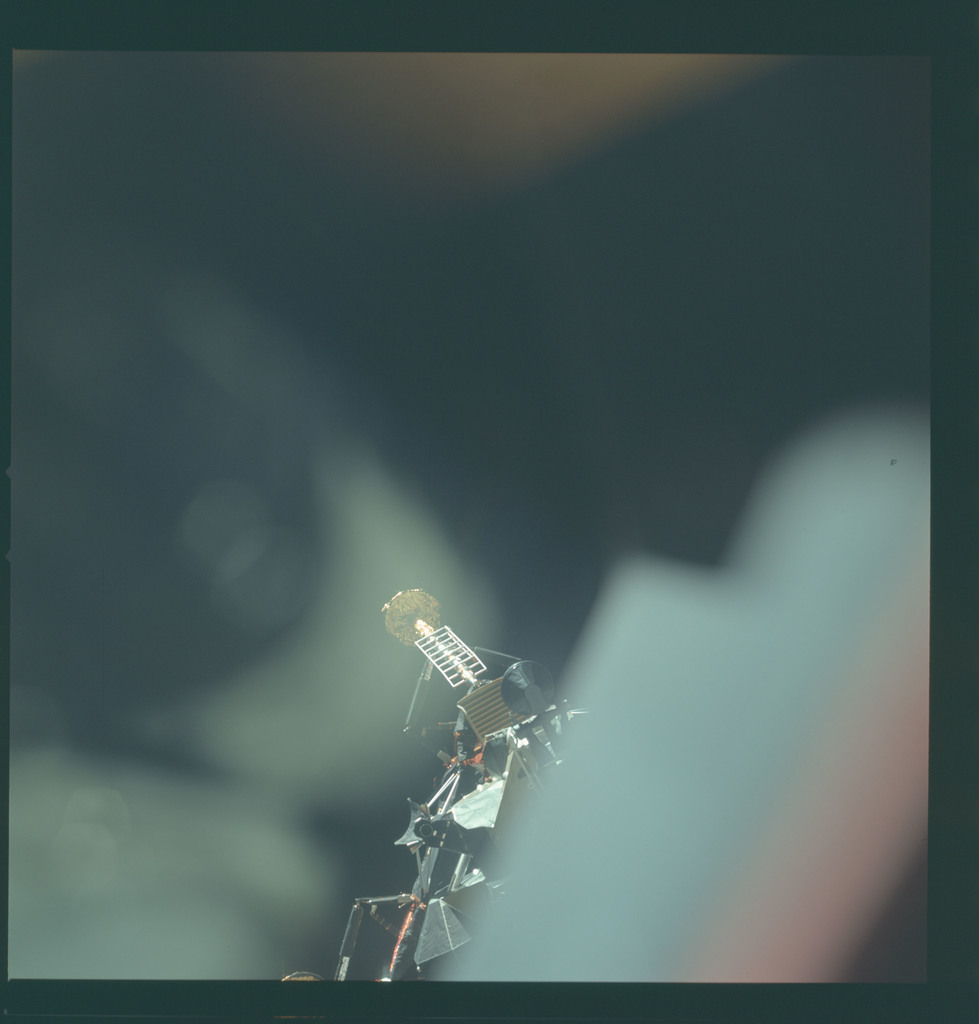 AS11-44-6570 - Apollo 11 - Apollo 11 Mission image - View of Lunar Module separation from the Command Module