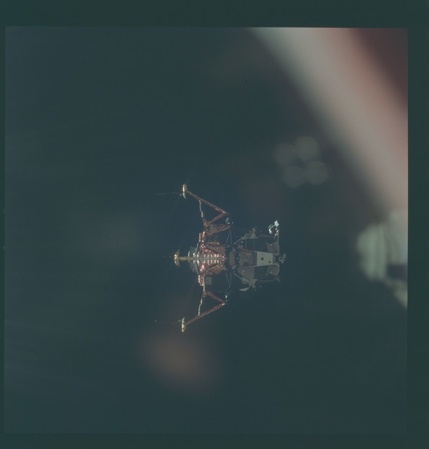 AS11-44-6596 - Apollo 11 - Apollo 11 Mission image - View of Lunar Module separation from the Command Module