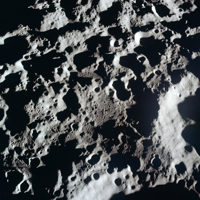 AS11-44-6607 - Apollo 11 - Apollo 11 Mission image - View of Moon, area north of Crater 310