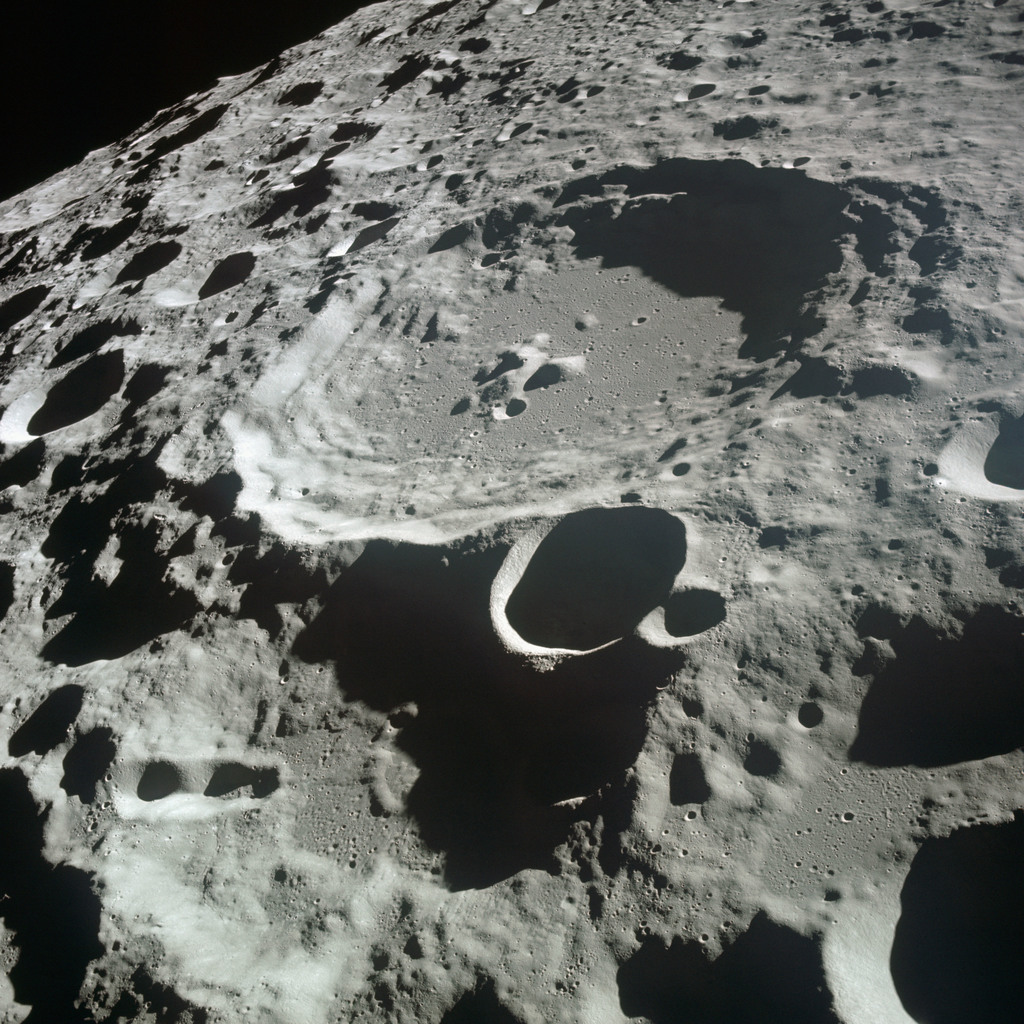 AS11-44-6611 - Apollo 11 - Apollo 11 Mission image - View of Moon limb, Crater 308