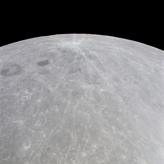 AS11-44-6656 - Apollo 11 - Apollo 11 Mission image - View of Moon limb, Joliot-Curie on left
