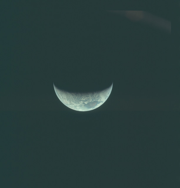 AS11-44-6683 - Apollo 11 - Apollo 11 Mission image - View of Earth