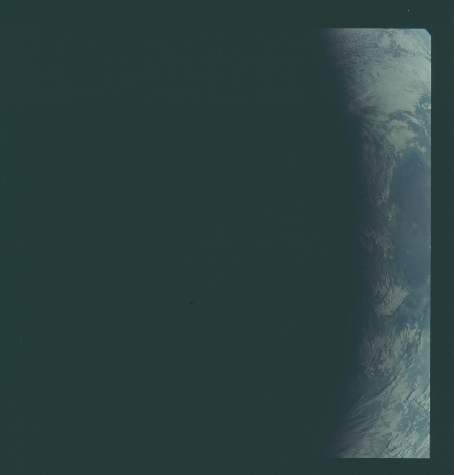 AS11-44-6695 - Apollo 11 - Apollo 11 Mission image - View of Earth terminator