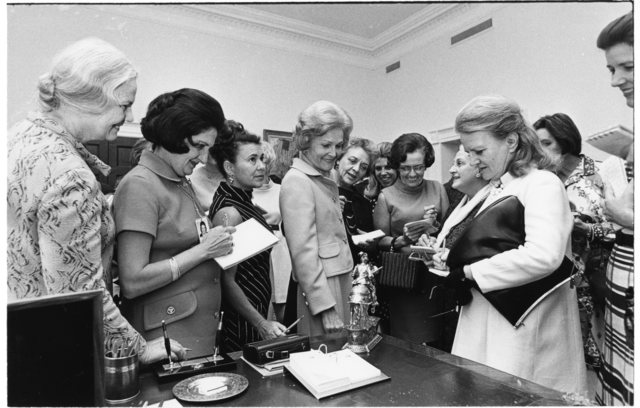 Pat Nixon Leading Female White House Press Corps Reporters on a Tour of White House