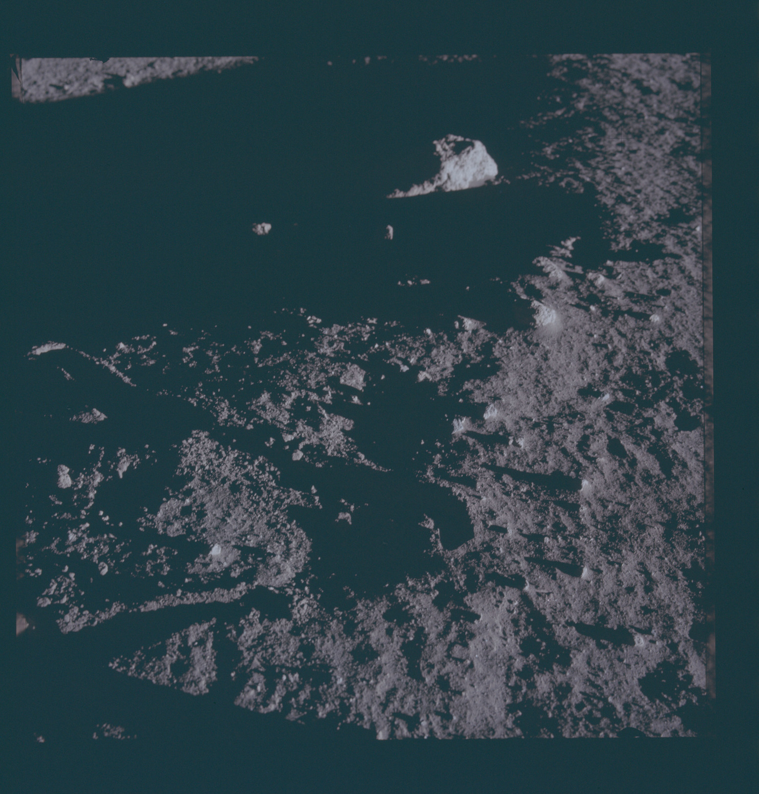 AS12-46-6720 - Apollo 12 - Apollo 12 Mission image  - View of the lunar surface