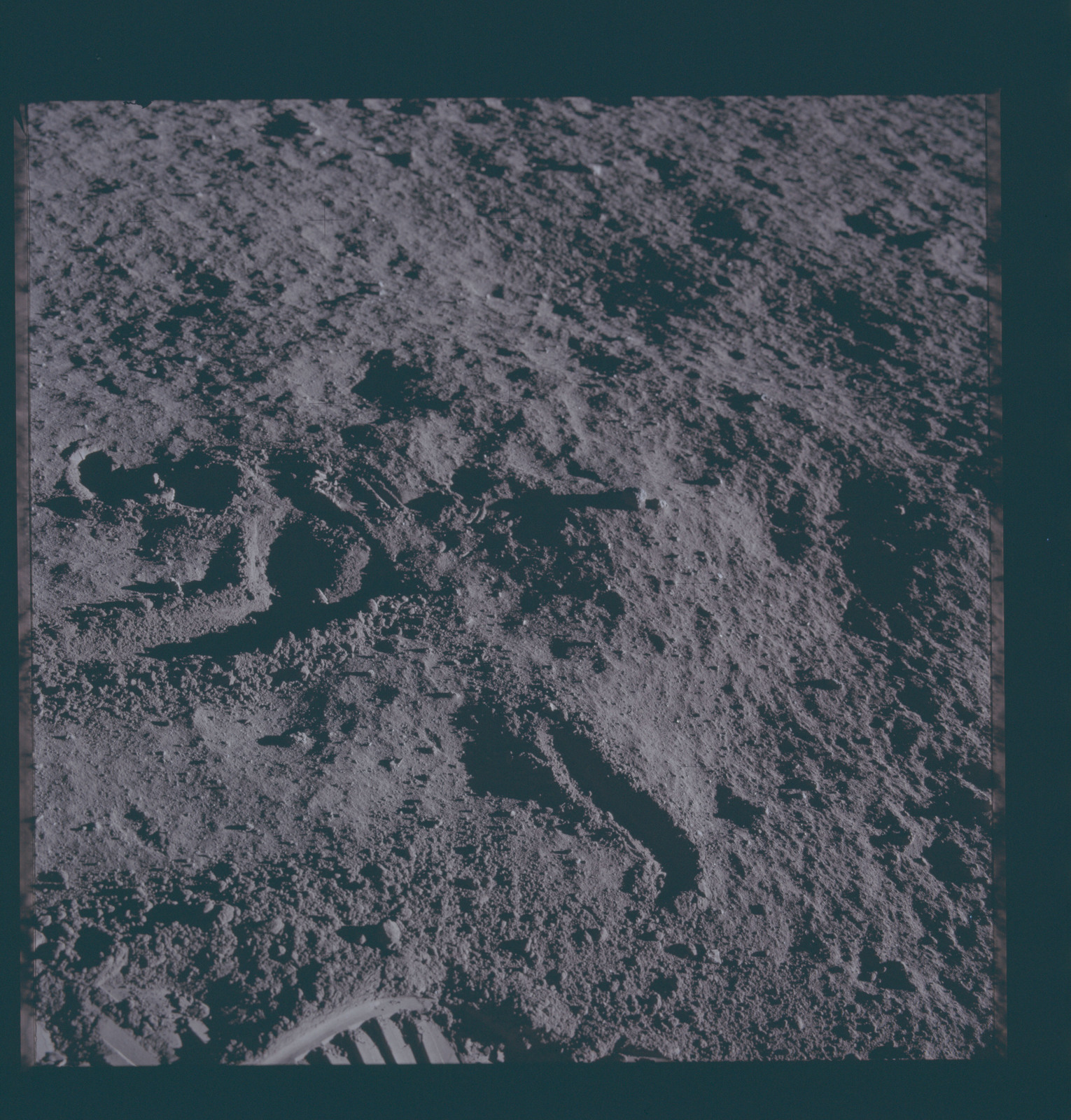 AS12-46-6722 - Apollo 12 - Apollo 12 Mission image  - View of the lunar surface