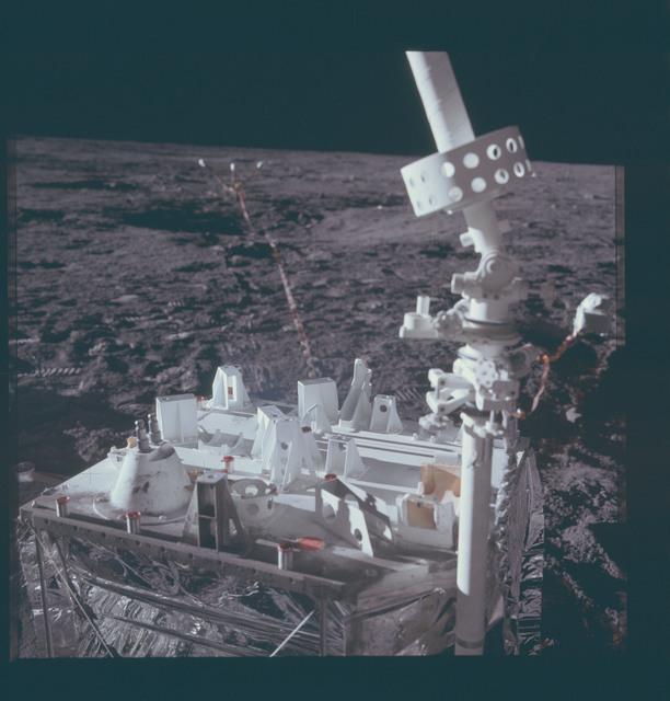 AS12-46-6814 - Apollo 12 - Apollo 12 Mission image  - ALSEP Central Station