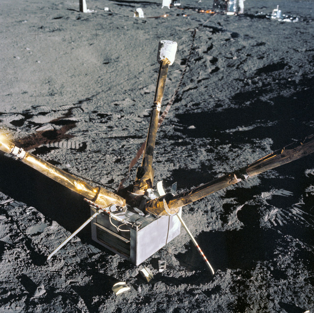 AS12-47-6920 - Apollo 12 - Apollo 12 Mission image  - ALSEP magnetometer