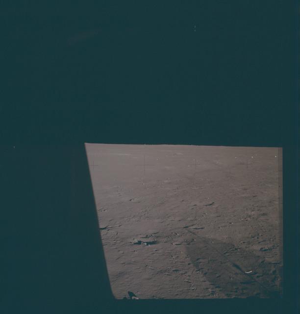 AS12-47-7011 - Apollo 12 - Apollo 12 Mission image  - Lunar surface near lunar module