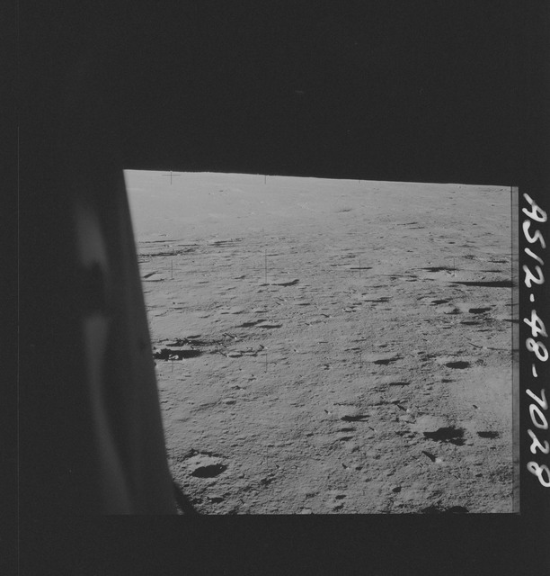 AS12-48-7028 - Apollo 12 - Apollo 12 Mission image  - View of the lunar surface from the Lunar Module (LM)