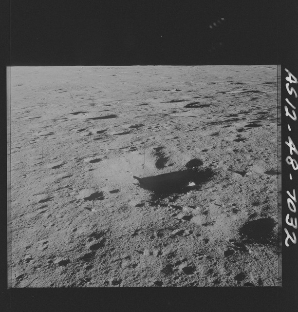 AS12-48-7032 - Apollo 12 - Apollo 12 Mission image  - View of the lunar surface from the Lunar Module (LM)
