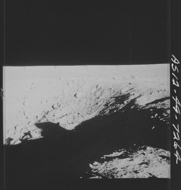 AS12-49-7264 - Apollo 12 - Apollo 12 Mission image  - View of Halo Crater