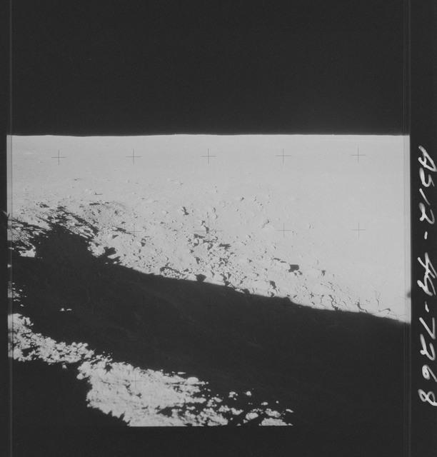 AS12-49-7268 - Apollo 12 - Apollo 12 Mission image  - View of Halo Crater