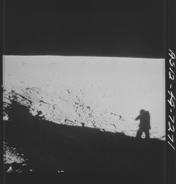 AS12-49-7271 - Apollo 12 - Apollo 12 Mission image  - View of Halo Crater