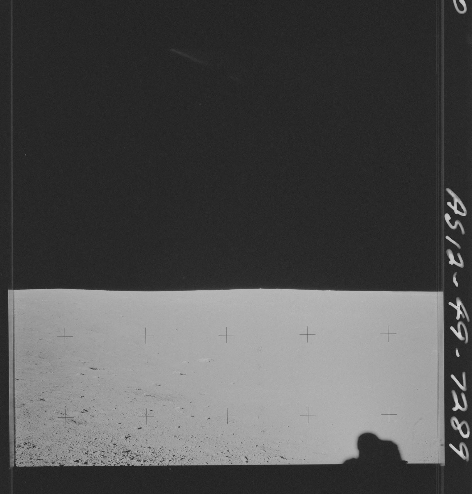 AS12-49-7289 - Apollo 12 - Apollo 12 Mission image  - View of the Lunar terrain