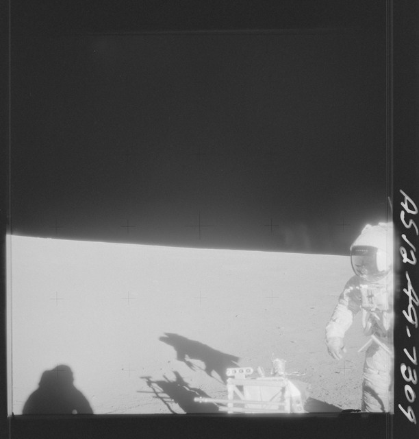 AS12-49-7309 - Apollo 12 - Apollo 12 Mission image  - View of crewmember and Hand Tool Kit