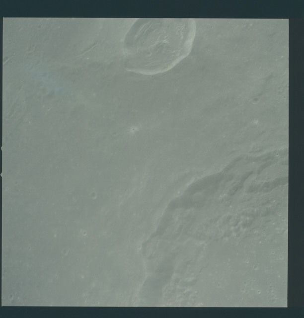 AS12-51-7466 - Apollo 12 - Apollo 12 Mission image  - View of Craters Theophilus and Madler