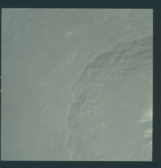 AS12-51-7467 - Apollo 12 - Apollo 12 Mission image  - View of Craters Theophilus and Theophilus B