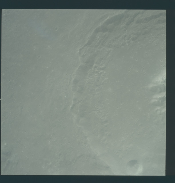 AS12-51-7468 - Apollo 12 - Apollo 12 Mission image  - View of Craters Theophilus and Theophilus B