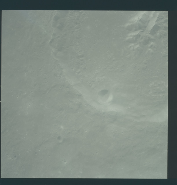 AS12-51-7469 - Apollo 12 - Apollo 12 Mission image  - View of Craters Theophilus and Theophilus B