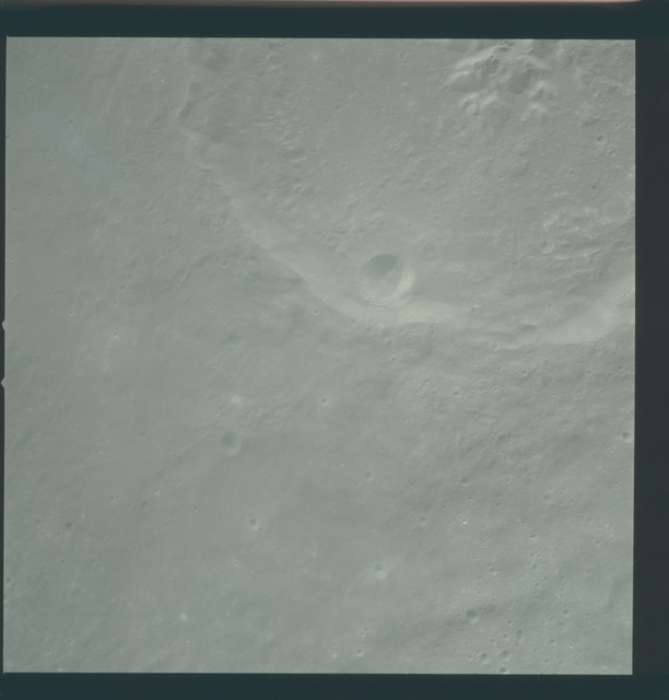 AS12-51-7470 - Apollo 12 - Apollo 12 Mission image  - View of Craters Theophilus and Theophilus B