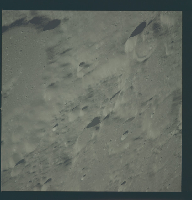 AS12-51-7471 - Apollo 12 - Apollo 12 Mission image  - View of Craters Albategnius and Parrot