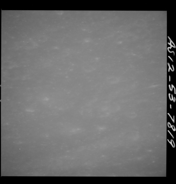AS12-53-7819 - Apollo 12 - Apollo 12 Mission image  - View of Fra Mauro Crater