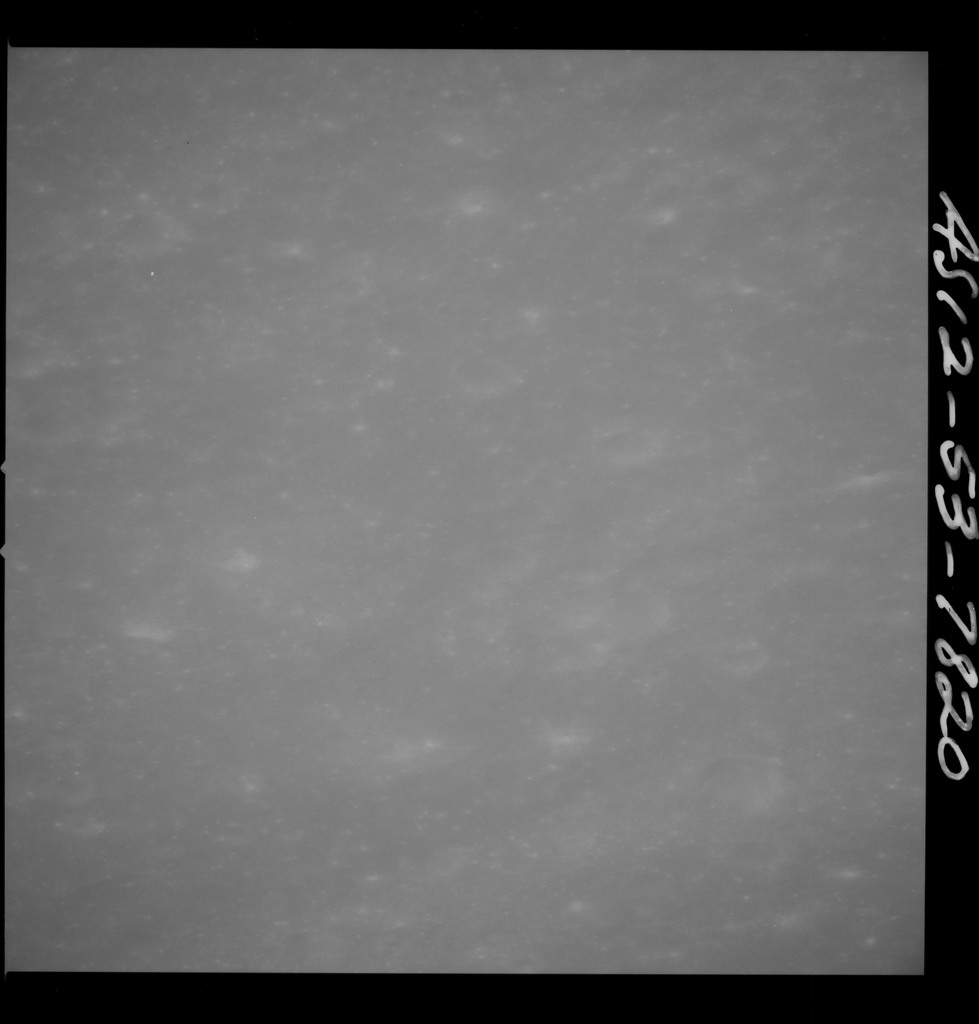 AS12-53-7820 - Apollo 12 - Apollo 12 Mission image  - View of Fra Mauro Crater