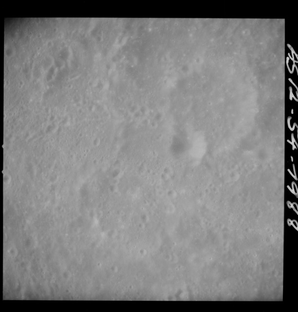 AS12-54-7988 - Apollo 12 - Apollo 12 Mission image  - Near vertical stereo strip view southwest of Crater Kiess (Crater 263)