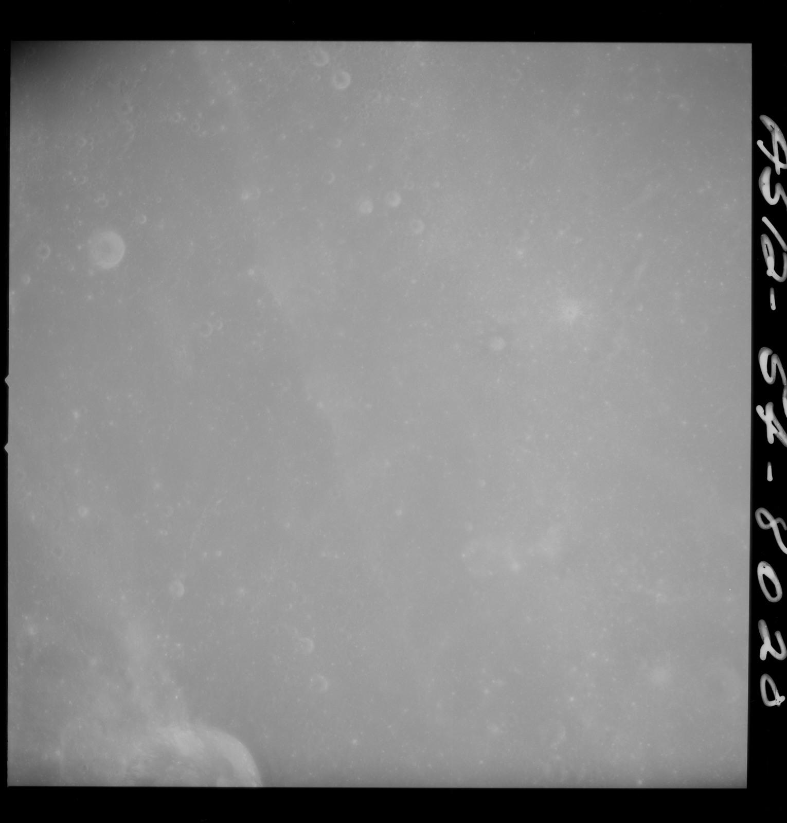 AS12-54-8020 - Apollo 12 - Apollo 12 Mission image  - Near vertical stereo strip view north of Crater Crozier