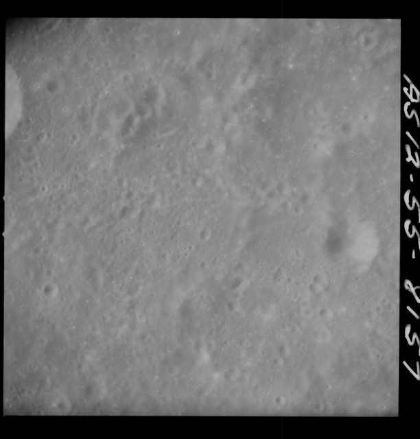 AS12-55-8157 - Apollo 12 - Apollo 12 Mission image  - View Southeast of Kastner Crater and Southwest of Kiess Crater